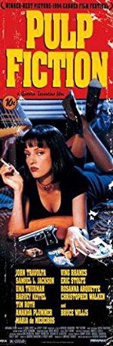 1art1 40460 Poster de Porte Pulp Fiction Affiche Principale I 158 X 53 cm