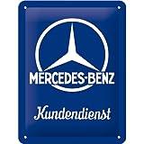 Nostalgic-Art 26226 Mercedes-Benz - Kundendienst  | Retro Blechschild | Vintage-Schild | Wand-Dekoration | Metall | 15x20 cm