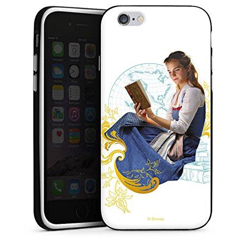 Apple iPhone X Silikon Hülle Case Schutzhülle Die Schöne und das Biest Belle Disney Prinzessin Silikon Case schwarz / weiß