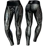 Anarchy Apparel Compression Leggings, Giger, Fitness Pants, Wear, MMA Hosen Größe XS