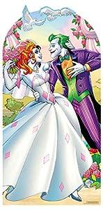 Star Cutouts SC1400 Joker Harley Quinn - Recorte de cartón de tamaño real para adultos (19 cm de alto, 95 cm de ancho, multicolor)
