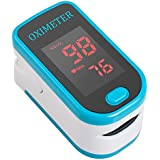 Carejoy Finger Fingertip Pulse Oximeter With LED OLED Display Spo2 Monitor for Adult Child Children Patient in Hospital Home Healthcare Oxygen Bar Community Medical Centre Alpine Area Sports Healthcare with Advanced Functions Automatic Power Off (Blue)