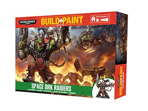 Revell-Monogram Revell GmbH Warhammer 40,000 Space Ork Raiders Build and Paint Set