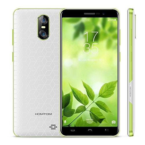 Smartphone Baratos Libres, HOMTOM S12 Android 6.0 Móviles de 5.0' 18:9 Pantalla Infinita (3G, MTK6580 1.3Ghz Quad Core,...