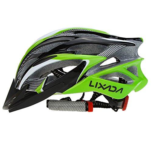 lixada casco da bicicletta 25 vents ultraleggero integralmente-modellato mtb bici regolabile sicurezza casco,verde