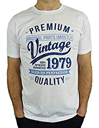 5beccc3b 1979 Vintage Year - Aged To Perfection - 40th Birthday Gift / Present Mens T -