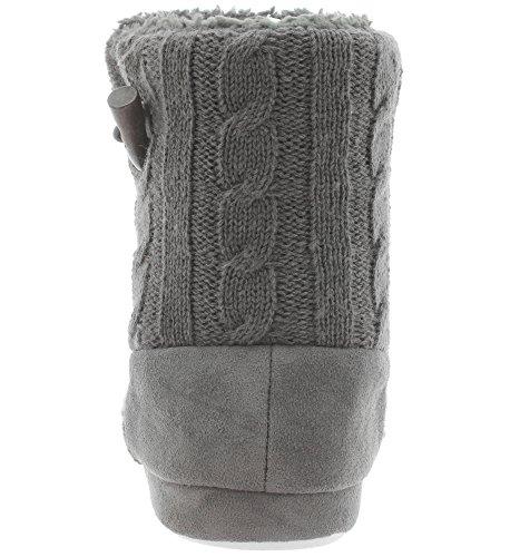 35250 Bootee Hausschuhe Grey Hüttenschuhe Knitted tqSwfz