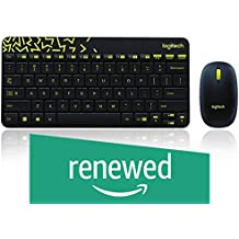 (Renewed) Logitech MK240 NANO Mouse and Keyboard Combo Black Color
