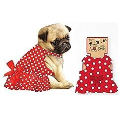 Frosty Paws Festive Cute Dog Spotty Dress - Size Small by shop inc