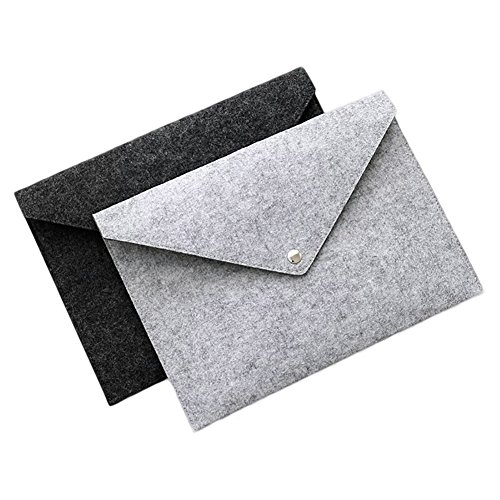 Haifly 2 Stk Filze A4 Dokument Ordner Datei Tasche Organizer Dokumententasche Dokumentenmappe Fächermappe für iPad (Tasche-datei-ordner)