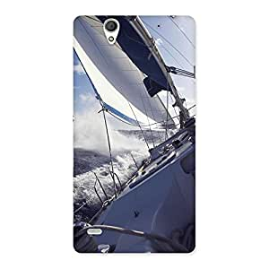 Delighted Floating Boat Back Case Cover for Sony Xperia C4