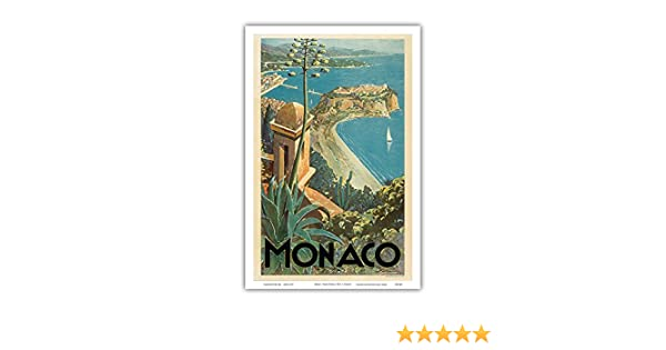 12in x 18in Clerissi c.1930s Monte Carlo French Riviera Vintage World Travel Poster by E Master Art Print Monaco