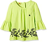 UFO Girls' Shirt (AW16-WF-GKT-322_Lime Green_8 - 9 years)