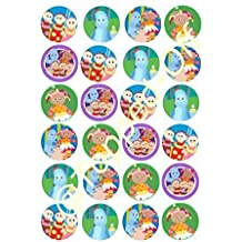 "24 x 1.5"" (3.8cm) In the Night Garden characters round edible cake toppers by Topped Off (FREE UK SHIPPING)"