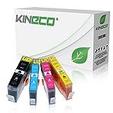 4 Kineco Tintenpatronen kompatibel zu HP 364XL PhotoSmart Premium B010 B210 A B C 5510 5514 5515 5520 5522 5524 6510 6520 7510 7520 e-All-in-One - CN684EE CB323EE CB324EE CB325EE - Schwarz 28ml, Color je 18ml