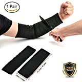 Yosoo Arm Protection Sleeve Anti-Cut Burn Resistant Steel Wire Armband - Level 5 Protection Anti Abrasion Safety Guard for Gardening Warehouse Factory Work (A Pair)