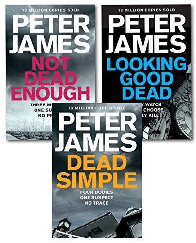 Peter James Roy Grace Series 3 Books Collection Set Not Dead Enough, Dead Simple, Looking Good Dead