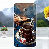 Softlyfit Embossment TPU Phone Casing für Nokia Lumia 630 / 630 Dual SIM / Lumia 635 - Court Style Coffee
