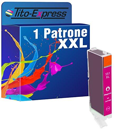 Tito-Express PlatinumSerie-Lotto di 2 cartucce di inchiostro, compatibile con Canon XXL PGI-550XL CLI-551XL e Canon Pixma IP7250, MG5450, MX925, MG6350, MX725 e) (6) 1x Magenta