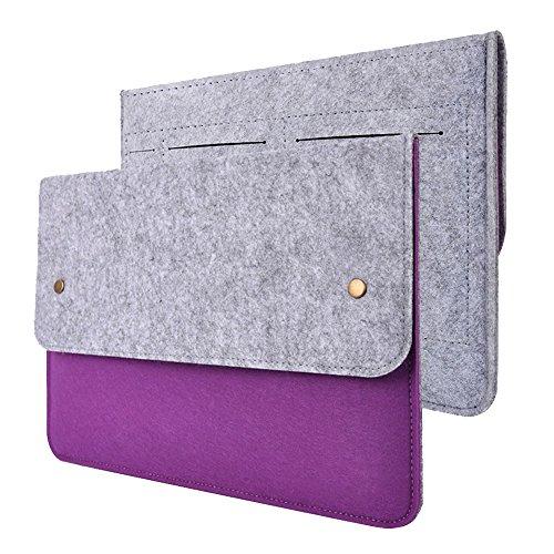 Damen Laptop-brief (Filz Tasche für 13,3 Zoll MackBook Air & Pro - Ultrabook Notebook Sleeve Laptophülle Filztasche für Apple MackBook Air & Pro 13 Zoll (Lila))