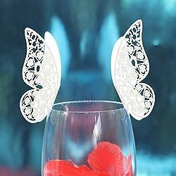 50 pcs tarjeta de agradecimiento o marcasitios para Boda para colocar en copa de invitados