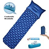 RioRand Inflatable Sleeping Mat with Pillow Lightweight Camping Sleeping Pad Moistureproof Inflatable Air