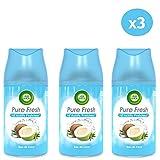 Air Wick Desodorisant Maison Recharge Diffuseur Freshmatic Eau de Coco 250 ml - Lot de 3...