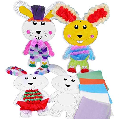 BESTOYARD Handgemachte Kaninchen Material Tasche Aufkleber Basteln DIY Supplies für Kinder Kindergarten (zufällige Farbe)