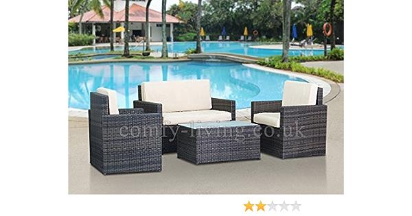 Comfy Living End Of Summer Rattan Garden Furniture Set Chairs Sofatable Outdoor Patio Amazon Co Uk Garden Outdoors