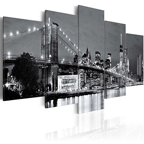 murando Quadro 200x100 cm 5 Pezzi Stampa su Tela in TNT XXL Immagini Moderni Murale Fotografia Grafica Decorazione da Parete New York 030202-12