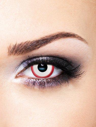 Edit farbige Saw Movie Film Kontaktlinsen Weiß ohne Stärke für Halloween und Karneval