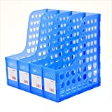 #4: Skyfun Plastic 4 Section Foldable File Paper Document Folder Office Essentials Sorter Tray Organizer Stand(32 * 27 * 30 cm)