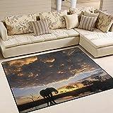 ingbags Super Weich Modern Afrika Cloud Elefant Sonnenuntergang, ein Wohnzimmer Teppiche Teppich Schlafzimmer Teppich für Kinder Play massiv Home Decorator Boden Teppich und Teppiche 160x 121,9cm, multi, 80 x 58 Inch