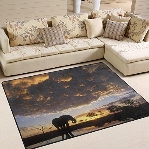 5. Ingbags Super Weich Modern Afrika Cloud Elefant Sonnenuntergang, Ein  Wohnzimmer Teppiche Teppich Schlafzimmer Teppich Für Kinder Play Massiv  Home ...