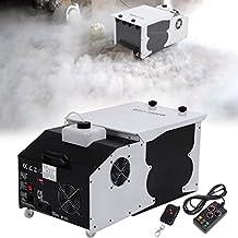 Ridgeyard 1500W asciutto effetto ghiaccio bassa sdraiato emettitore fumo nebbia nebulizzatore macchina con telecomando per la danza di nozze DJ stage Party spettacolo teatrale