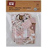 MP PD122-08 - Pack de 34 etiquetas de scrapbooking