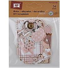 MP PD122-08 - Pack de 34 etiquetas de scrapbooking