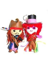 Jack Sparrow &Mad Hatter -Johnny Depp Voodoo String Doll Keyring Keychain by Thailand