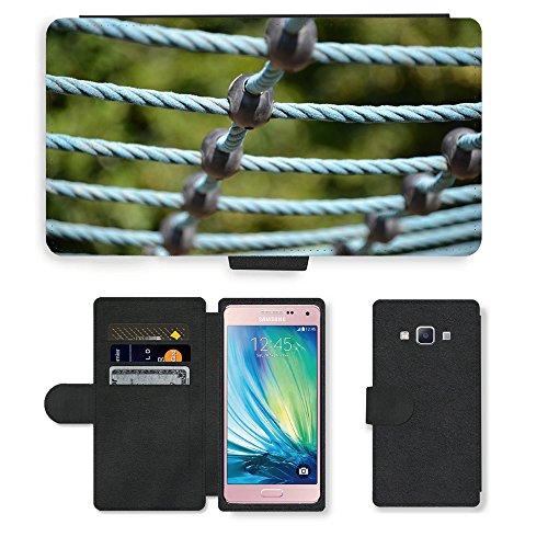 PU Leder Wallet Case Folio Schutzhülle // M00290394 Spielplatz Turngeräte // Samsung Galaxy A5 (not fit S5)
