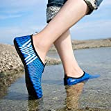 Kaiki Boys Girls Mens Womens Quick-Dry Surf Aqua Shoes Beach Swim Water Shoes Wetsuit Socks Yoga Exercise Shoes (Dark Blue, 39/40)