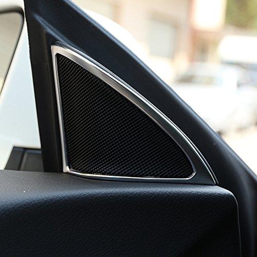 ABS Matte Chrome Zubehör Tür Lautsprecher Rahmenverkleidung für CLA W117 2014-2018