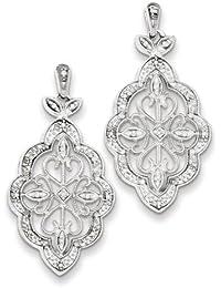 Enlaces de plata 925-Sterling plateado rodio Gemelos Por UKGems-925-Sterling Silver Rhodium Plated Cuff Links By UKGems