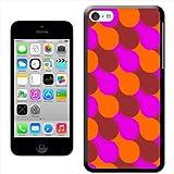 Fancy A Snuggle Sixties Livrea rosa marrone arancione 'snuggle Cover rigida per Apple iPhone 5C