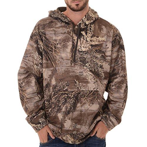 Realtree Performance Herren Fleece-Pullover, Camouflage, Herren, Realtree Max XT Camouflage, X-Large Camouflage-fleece-pullover