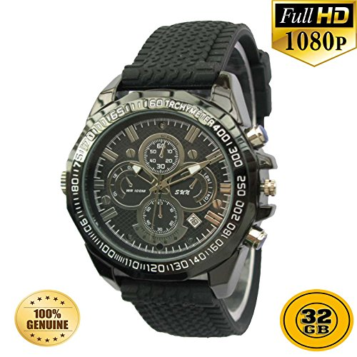PANSIM 32GB 1080P HD Hidden Video Watch Camera Spy Night vision DVR Camera  available at amazon for Rs.12500