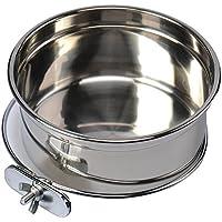 Cuenco de agua de acero inoxidable para mascotas, jaulas de pájaros, perro, gato, loro, pájaros, conejo, mascota