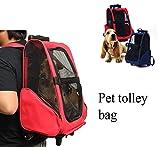 Bazaar Haustier Katze des Hundes Träger Rucksack mit Rollen Trolley Rucksack Reisetasche für Hunde und Katzen Beutel Gepäck Notebook