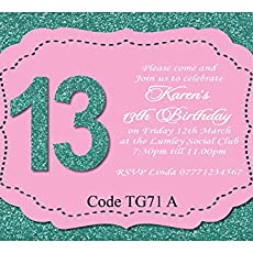 Teenage Girls Birthday Party Invitations Cards Any Age