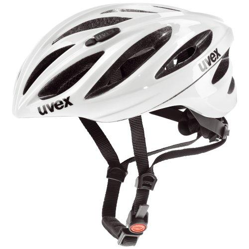 Uvex Boss Race - Casco unisex, color blanco, talla 52-56