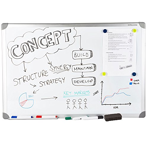 andrew-james-60cm-x-90cm-lightweight-magnetic-dry-wipe-whiteboard-with-magnets-eraser-4-markers-and-